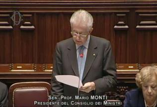 Monti discorso alla Camera