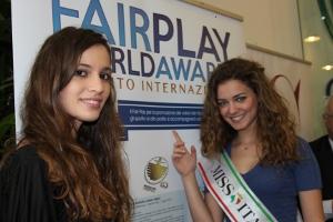 Giusy Buscemi, Miss Italia 2012 e Valentina Del Prete, Miss Miluna Lazio 2012