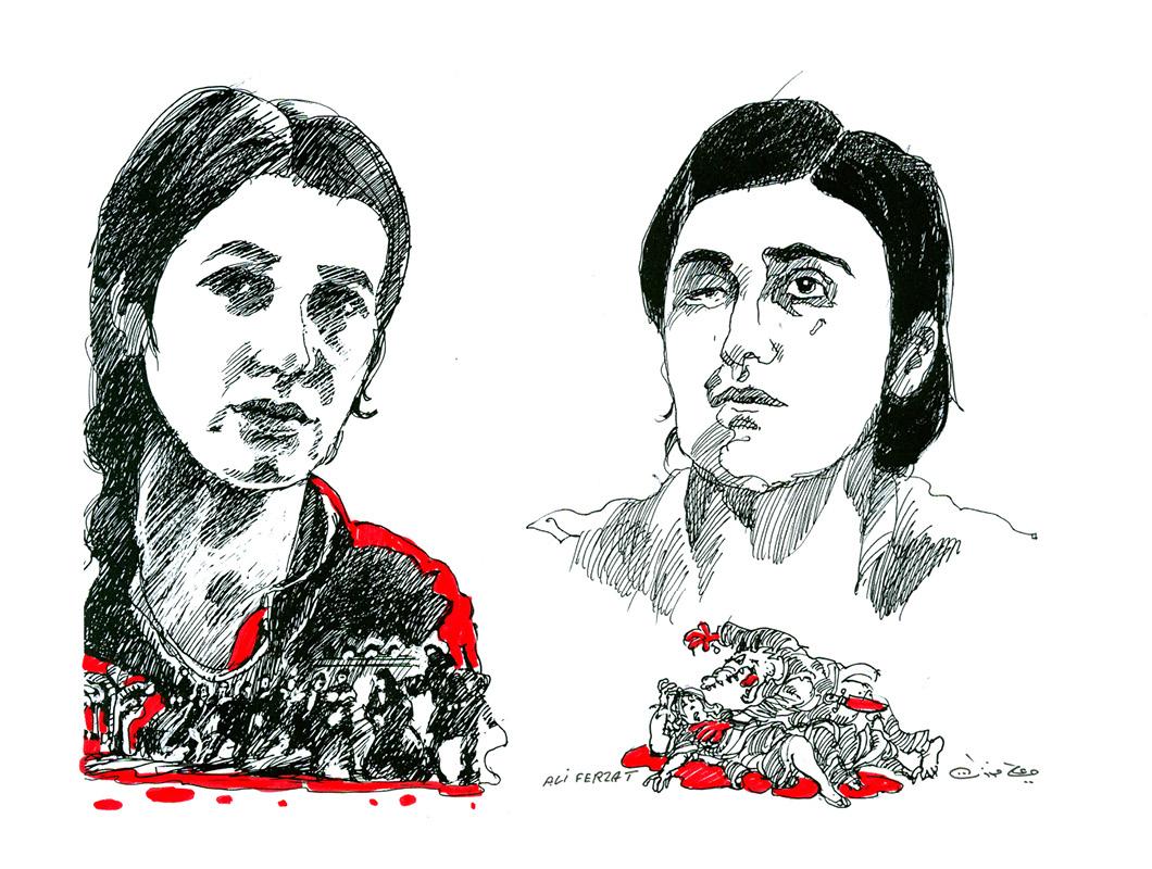 Nadia-Murad-Basee__Lamiya-Aji-Bashar_Ali_Ferzat-2016