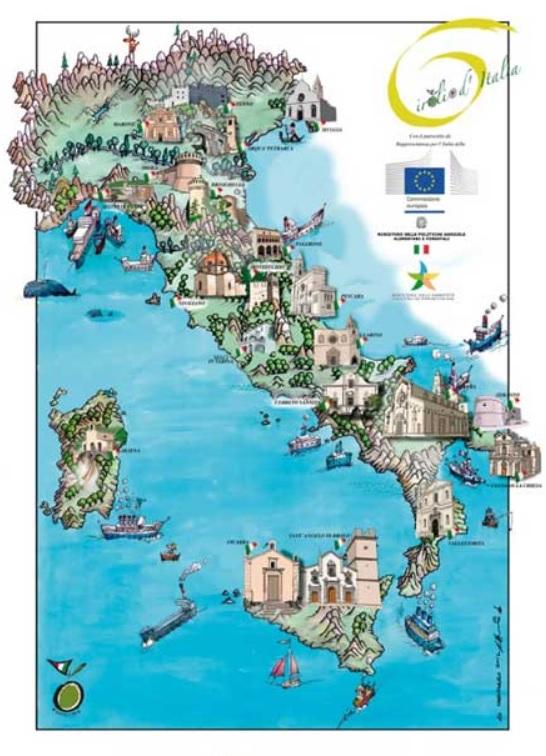 mappa Girolio Italia 2017
