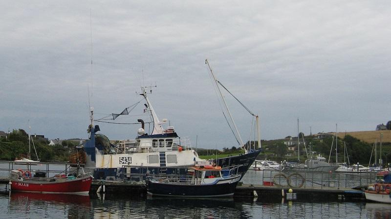 barche da pesca ancorate