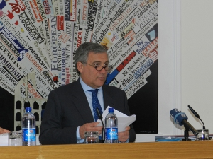 Antonio Tajani vice presidente Commissione europea e responsabile industria e imprenditoria