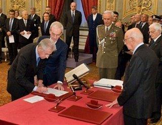 nuovo governo monti alla firma