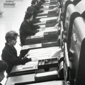 mestiere donna - impiegate 1960