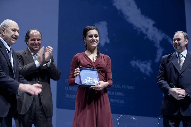 Giannino Marzotto e Annalisa Balloi, Vincitrice Premio Gaetano Marzotto 2011