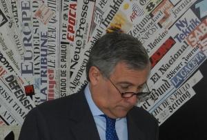 Antonio Tajani vice presidente Commissione europea e resp per industria e imprenditoria