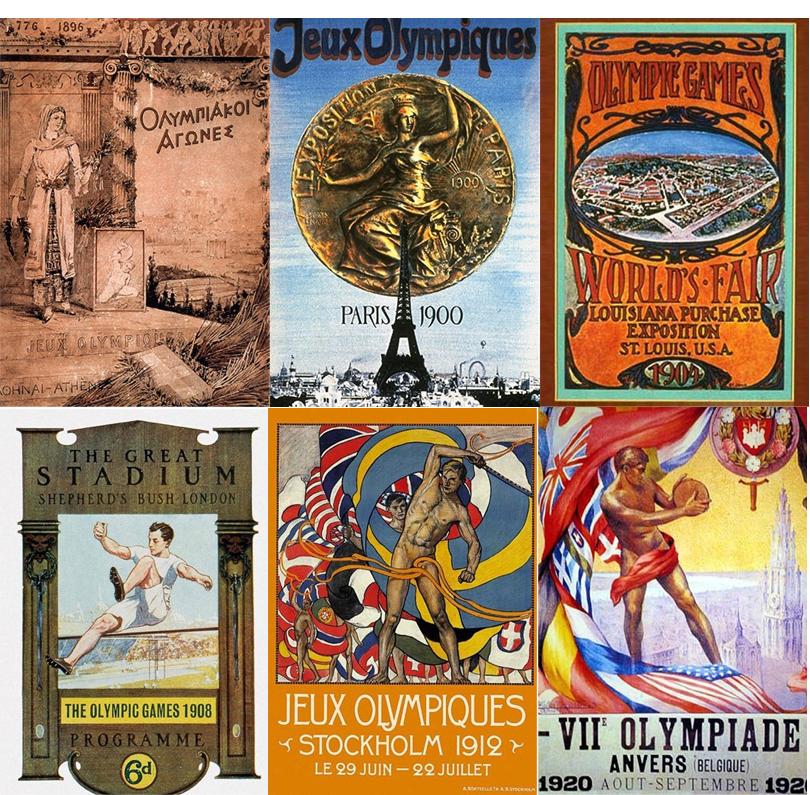 Manifesti Olimpiadi 1896-1920