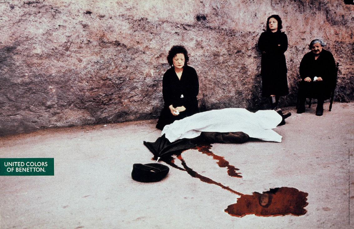 Manifesto Benetton di Oliviero Toscani - Omicidio della mafia