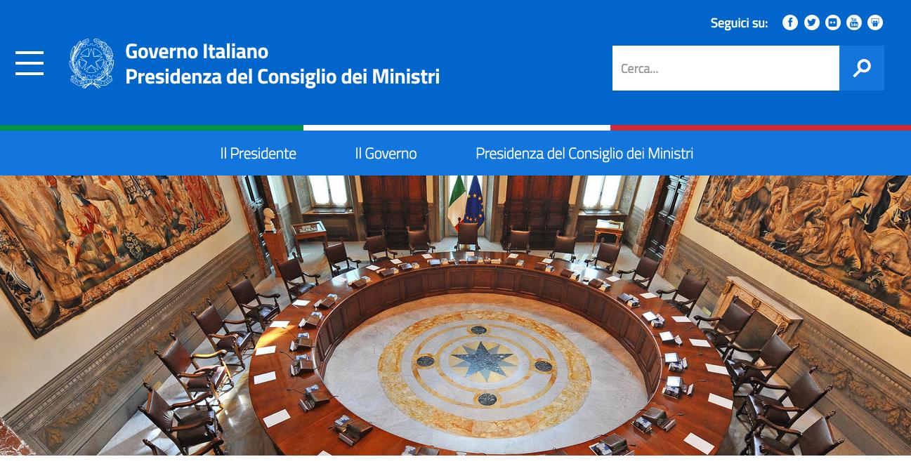 Nuove linee guida di design per i siti della pubblica for Sito governo italiano