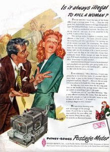 """Annuncio pubbliciatrio americano degli anni '50 """" E' sempre illegale uccidere una donna ? """""""