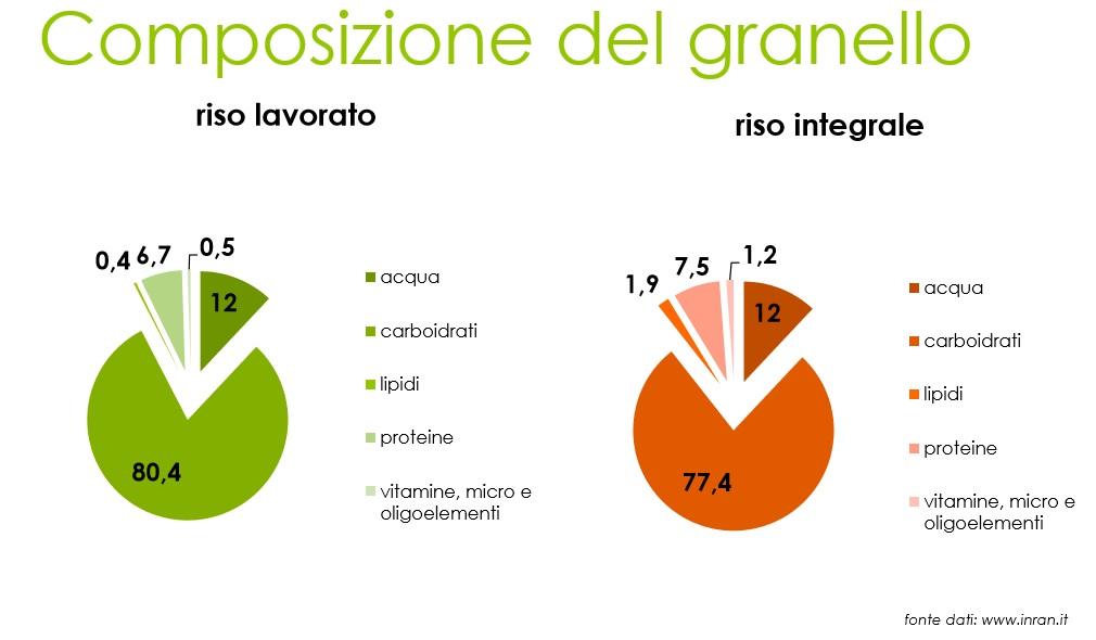 grafico composizione riso