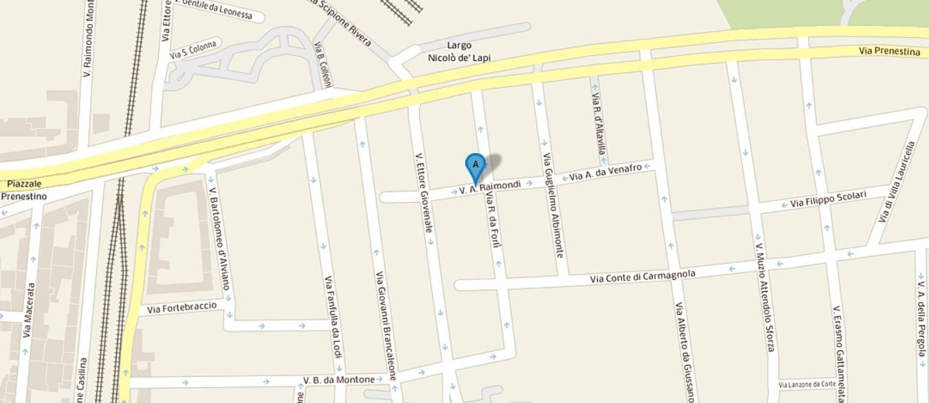 Mappa indirizzo corso giornalismo 2018