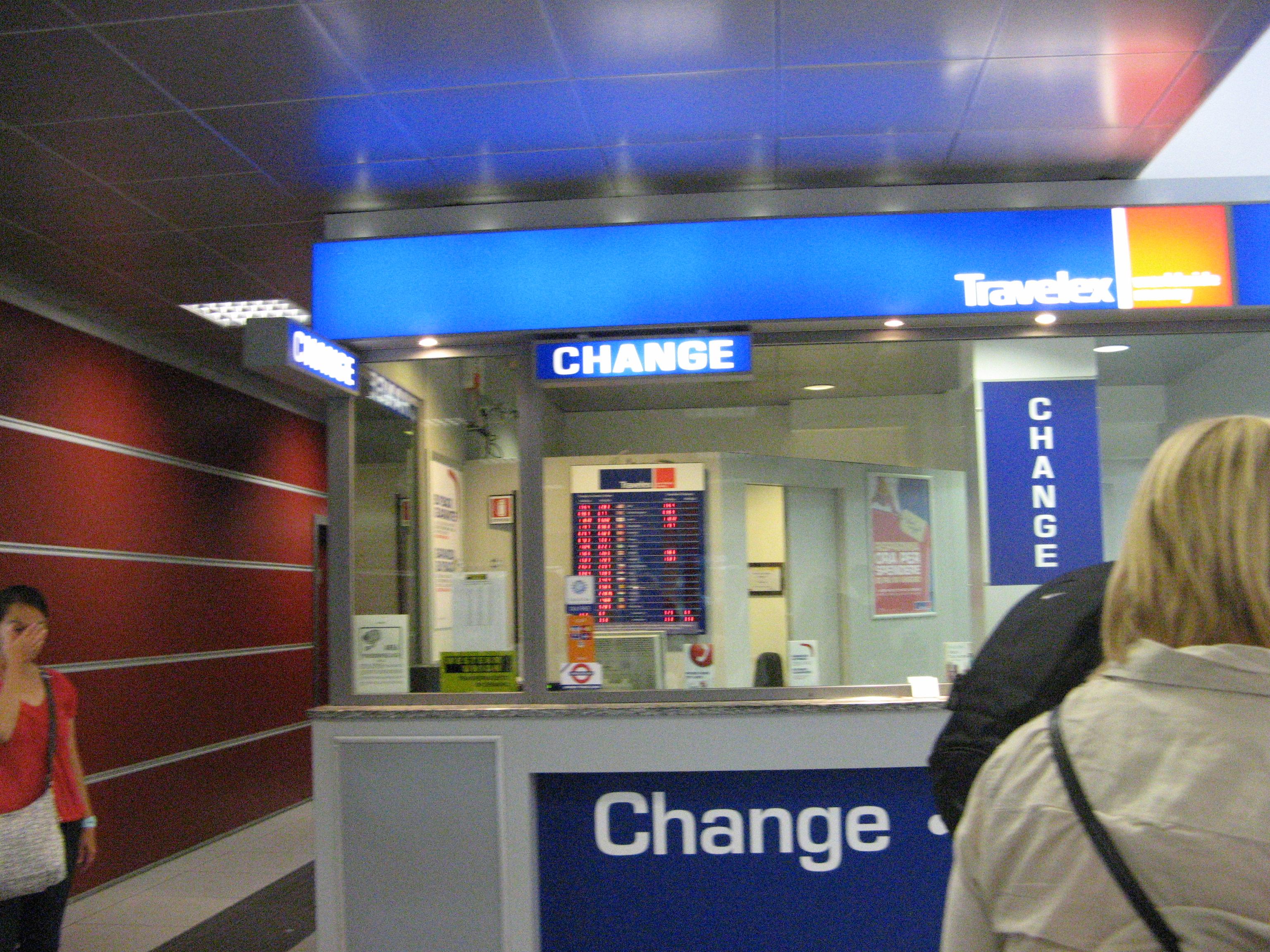 Cassa cambi dell'aeroporto