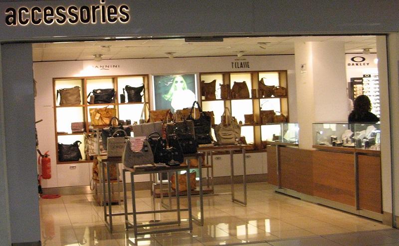 negozio borse in aeroporto