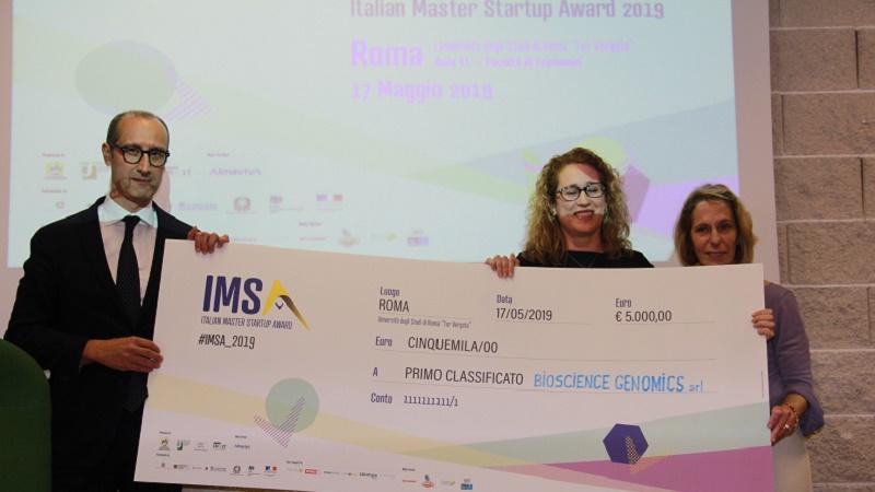 premiazione Italian master startup 2019